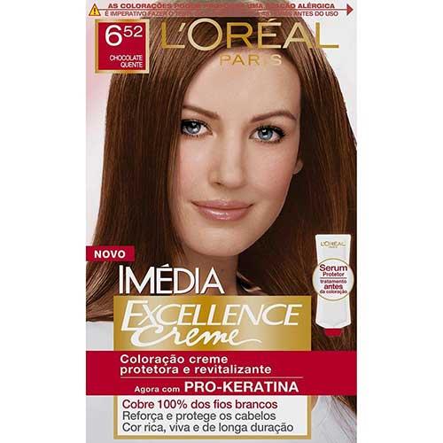 tintura de cabelo loreal chocolate quente