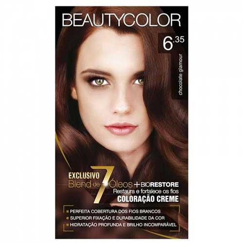 tintura de cabelo chocolate da beauty color