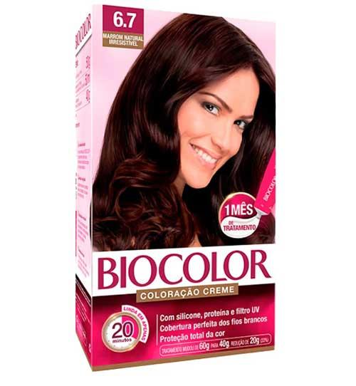 tinta de cabelo biocolor chocolate