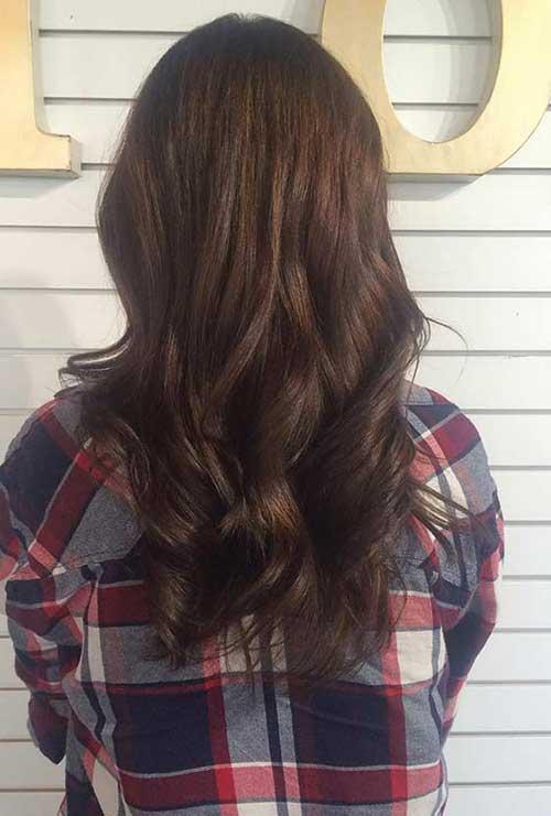imagem do pinterest de cabelo marrom cobre