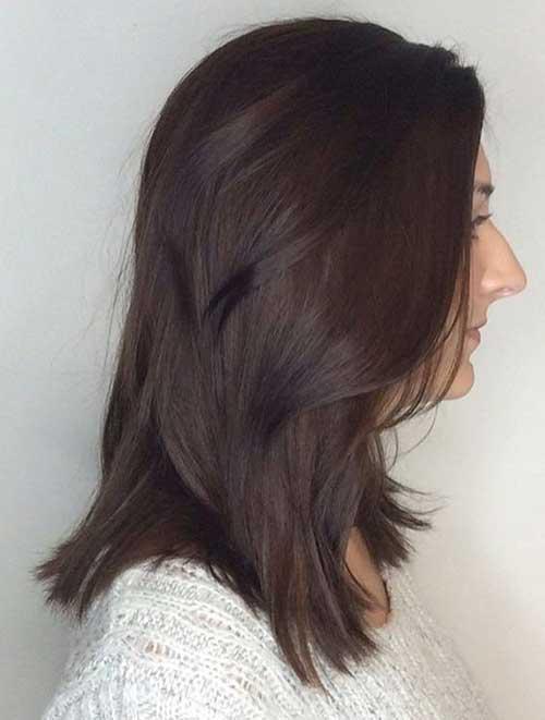 cabelo marrom chocolate escuro e suave