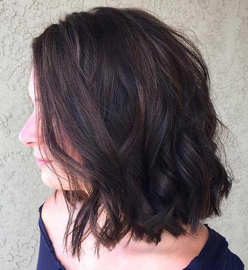 imagem do pinterest de cabelo marrom quase preto