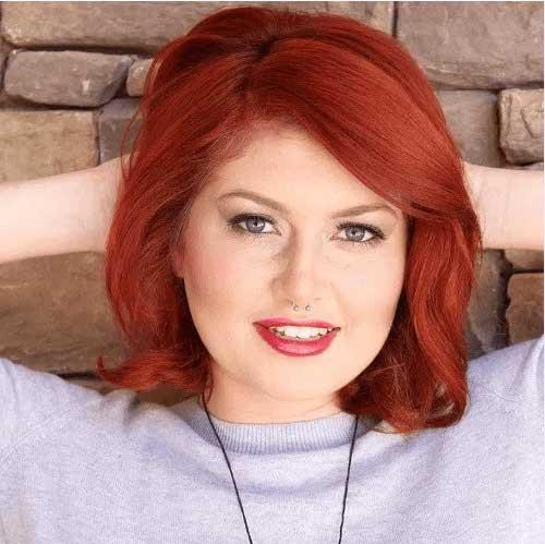 cabelo ruivo para mulher acima do peso