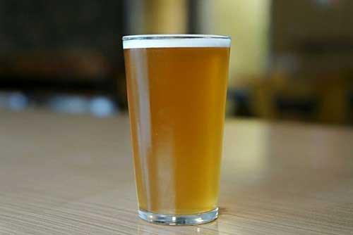 copo de cerveja para ser usado no cabelo