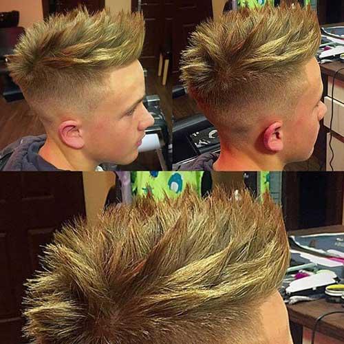 corte de cabelo high fade arrepiado em cima