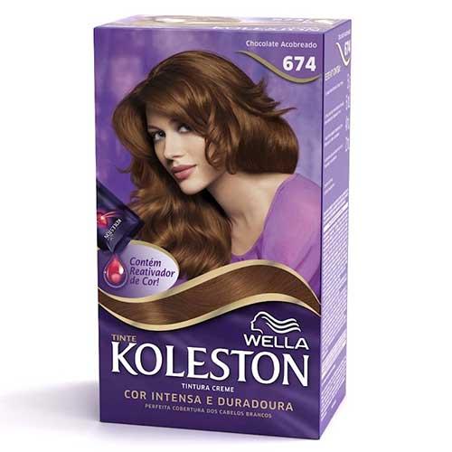 tintura chocolate cobre da koleston