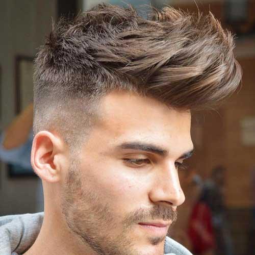 foto de cabelo masculino com franja espetada