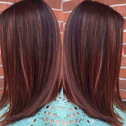 imagem de cabelo chocolate feminino com luzes