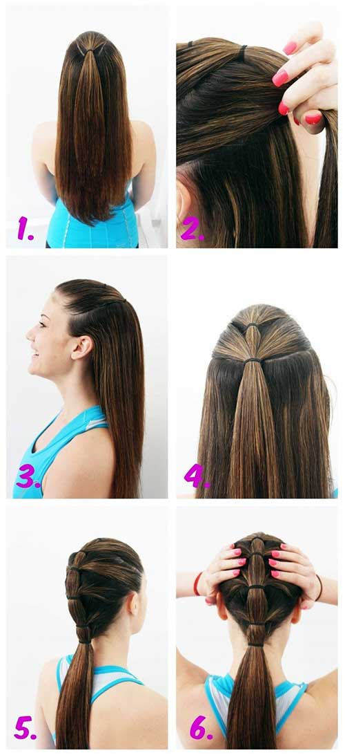 infografico mostrando como fazer penteado para malhar