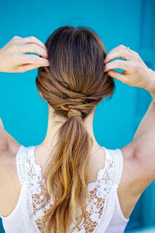 foto de cabelo com rabo de cavalo estilizado