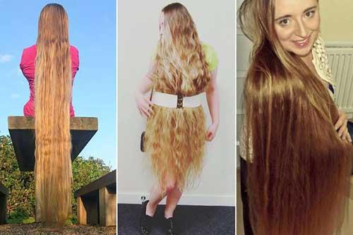 cabelo longo e bonito parecido com da rapunzel