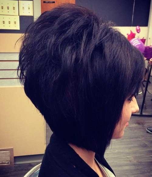 imagem de corte de cabelo preto curto chanel de bico