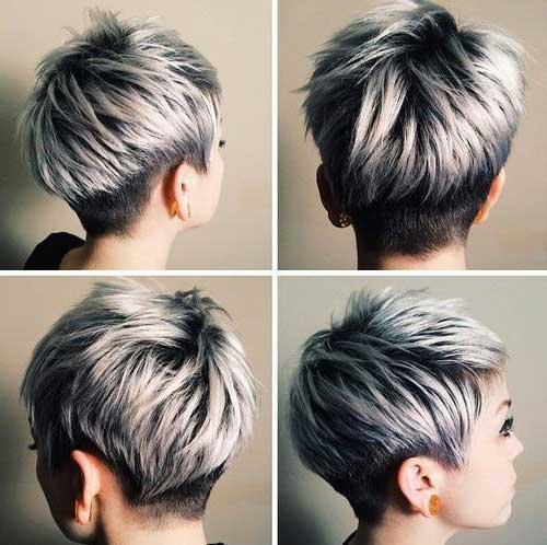 corte de cabelo curto cinza platinado retirado do pinterest