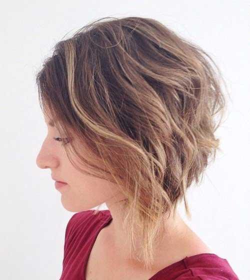 foto do pinterest de cabelo curto com ombre marrom