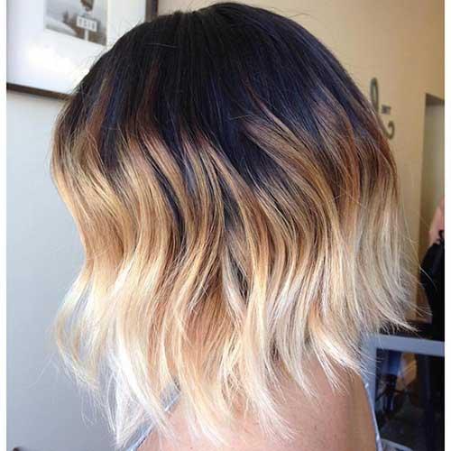 foto de corte de cabelo curto com ombre hair cor de verao