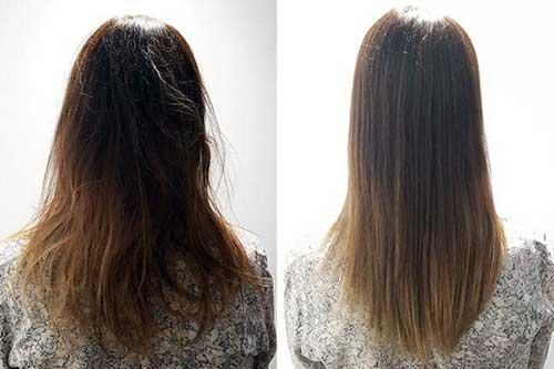 progressiva de chocolate no cabelo feminino