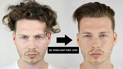 antes e depois de fazer progressiva no cabelo masculino curto com chocolate