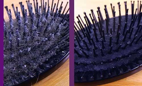 como limpar a escova de cabelo do jeito certo
