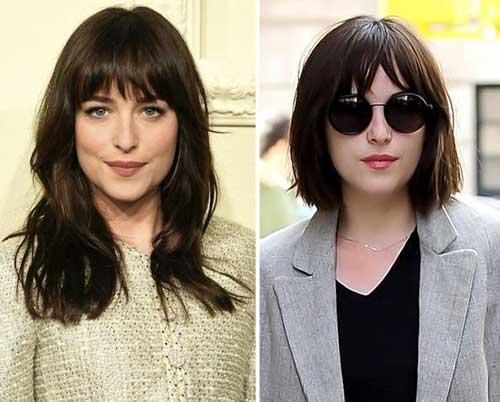 resultado do corte blunt cut na atriz famosa