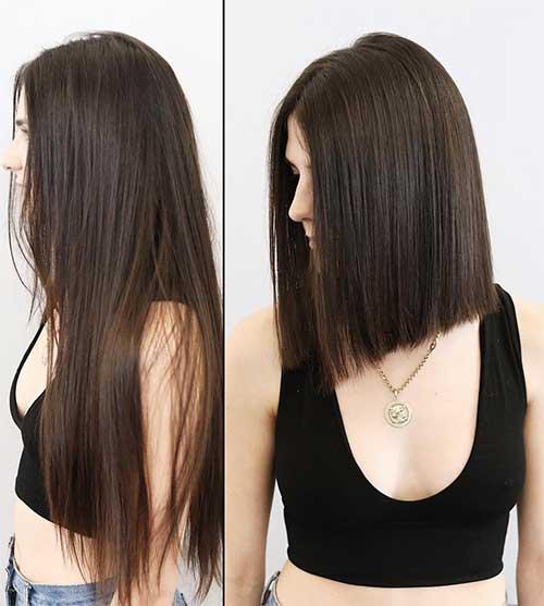resultado de fazer corte blunt em cabelos longos