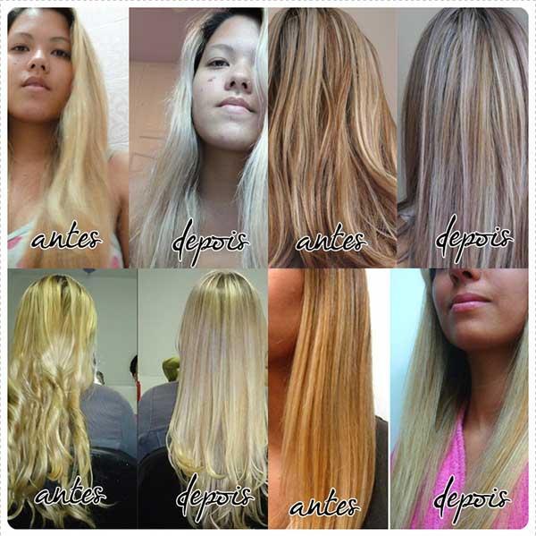 antes e depois com violeta genciana
