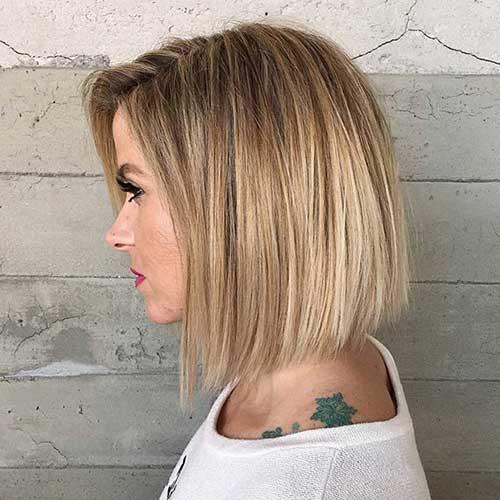 cabelo bob blunt com cor loira degrade