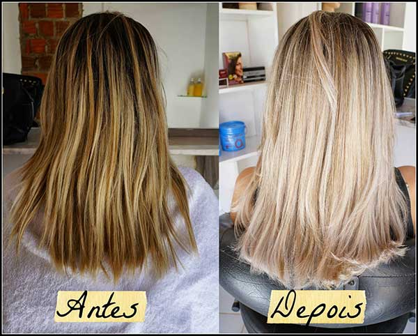 como desamarelar o cabelo