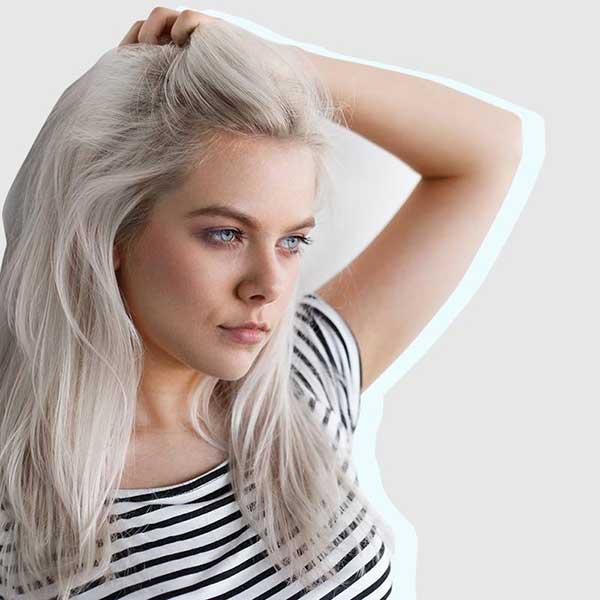 como fica o cabelo descolorido ao máximo possível