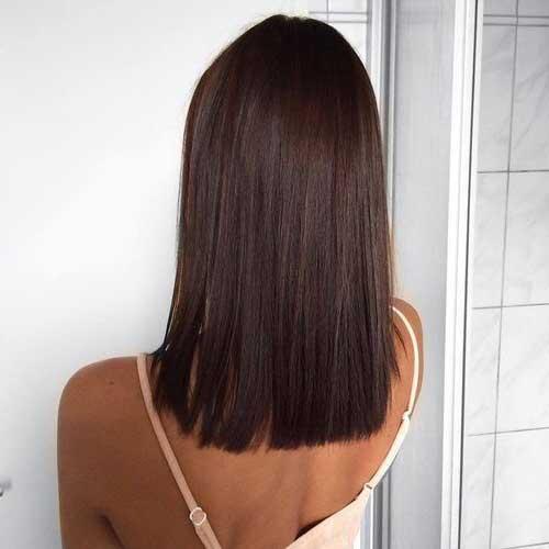 cabelo blunt cut visto de tras