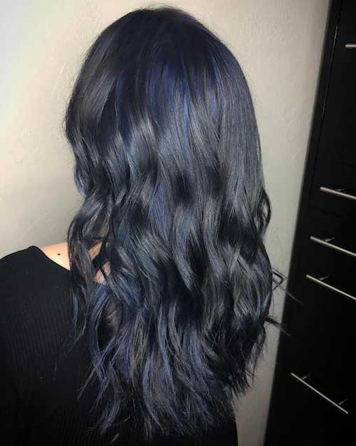 cabelo denim quase preto