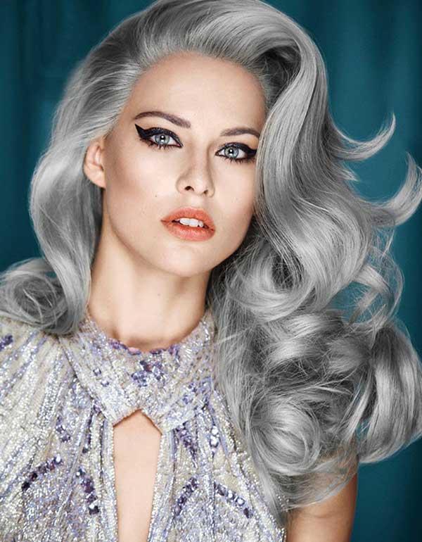 loiro acinzentado claríssimo - lindo tom pra cabelo feminino