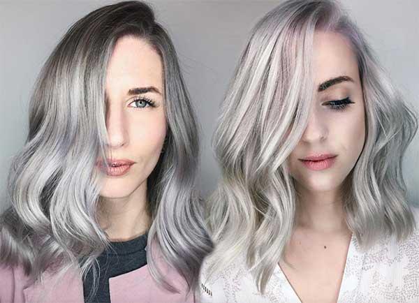 tons mais claro e escuro no cabelo feminino