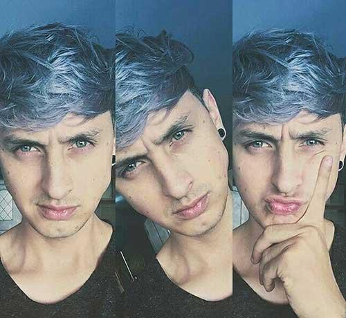 cabelo masculino com cores jeans