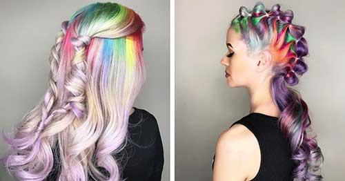 imagem de cabelo colorido para carnaval