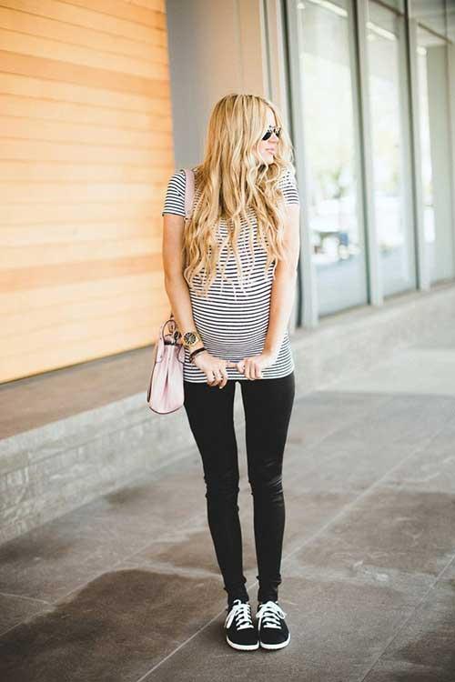 foto de mulher bonita e gravida com cabelos grandes