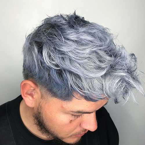 foto de cabelo denim cinza em homem