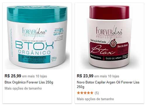 imagem mostrando o preço do botox da forever liss