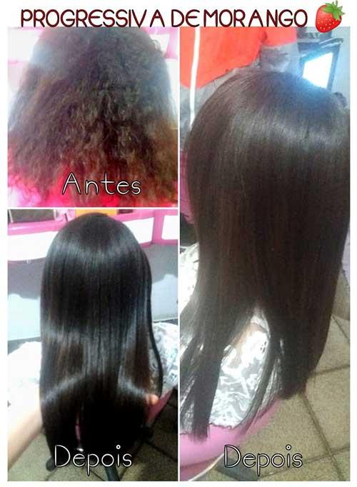 resultado da progressiva de morango no cabelo crespo