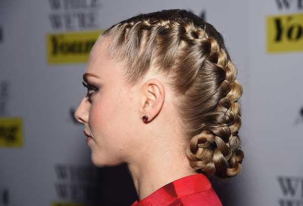 A técnica pode ser mesclada com penteados trançados