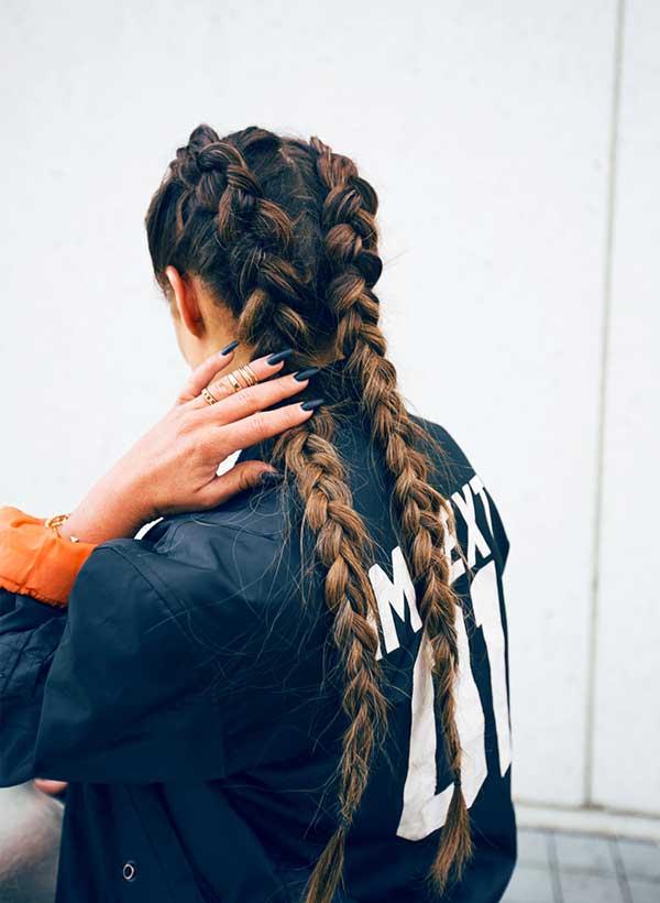 A última tendência de penteados
