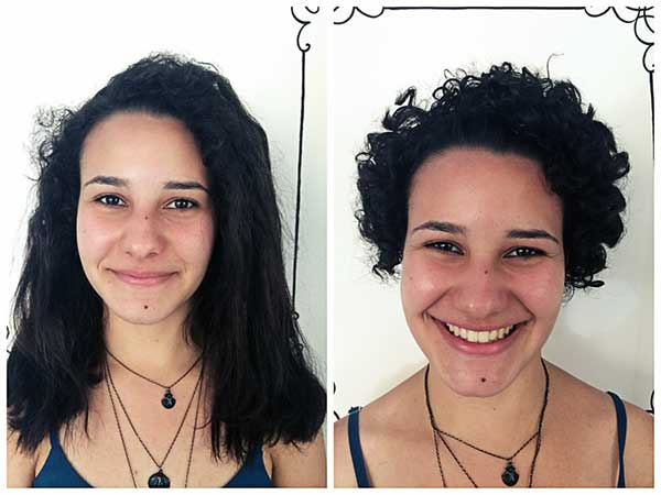 antes e depois de quase 1 ano em transição