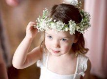 penteado solto com coroa florida