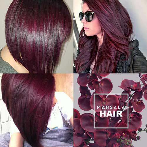 cabelos Marsala - uma linda moda pra você aderir em 2019