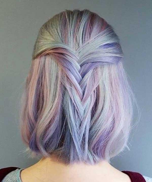 opal azulado e roxo