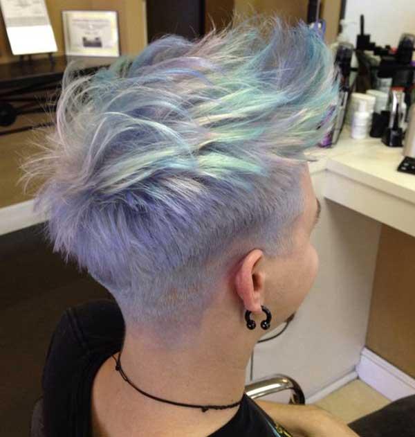 opal hair feito em salão nos cabelos curtos