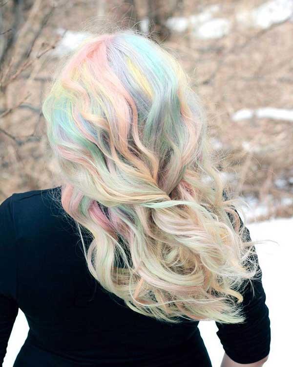 inspiração do Instagram de opal hair