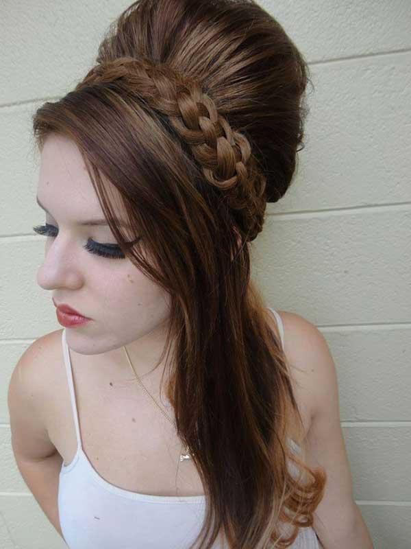 penteado inspirado na Amy Winehouse com tranças