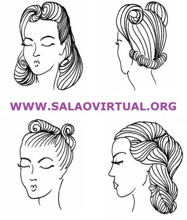 penteados anos 1940 - conheça os estilos mais lindos e aprenda um tutorial