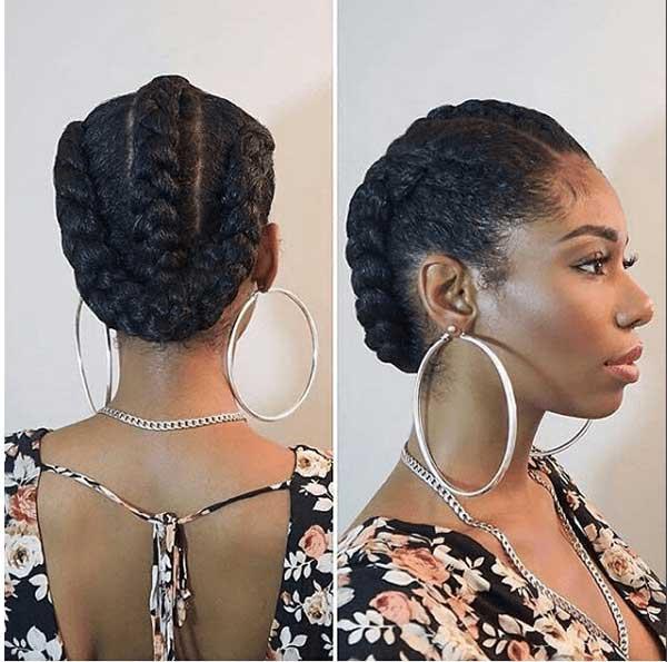 Tranças embutidas para noiva negra de cabelo preso